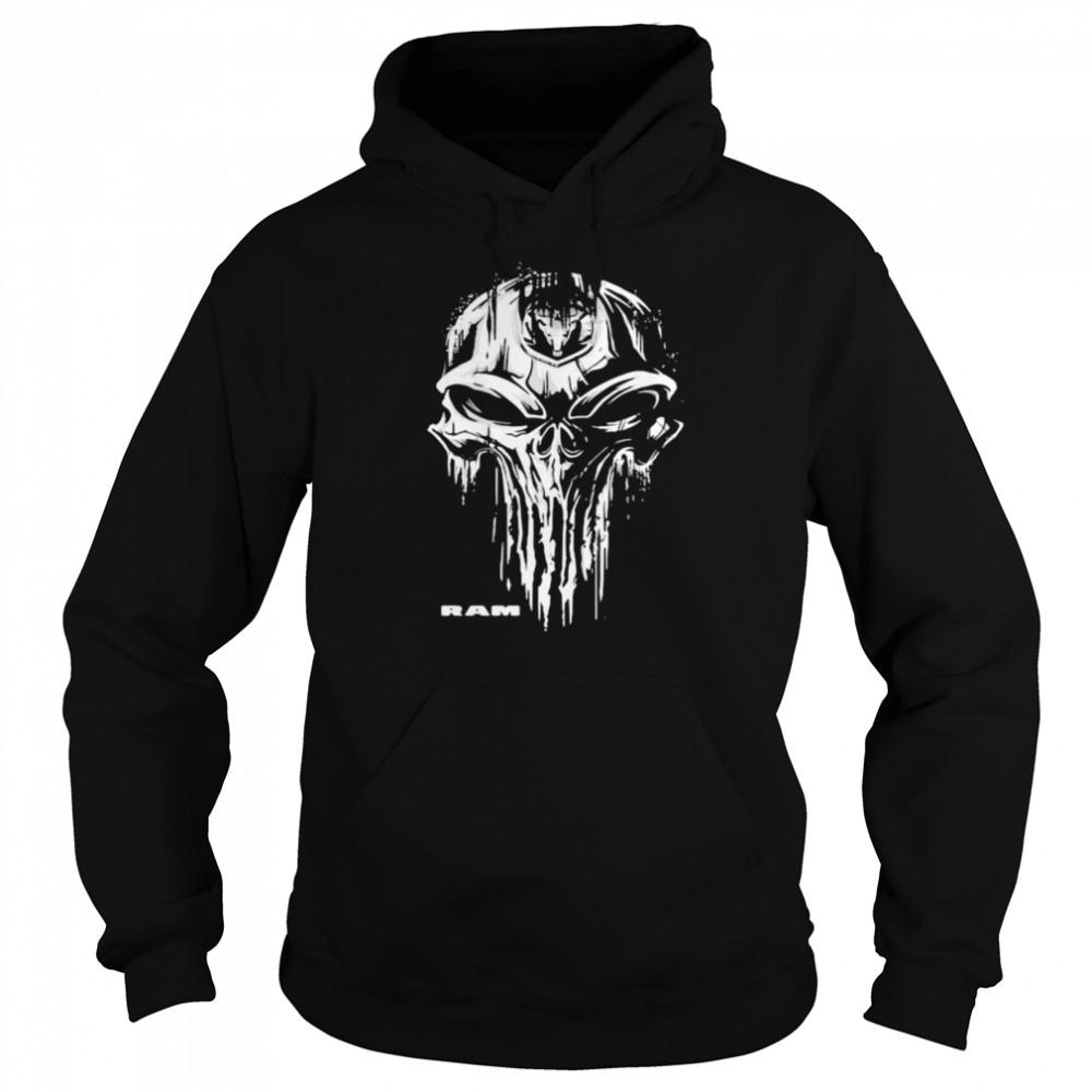 Punisher With Logo Ram Trucks  Unisex Hoodie