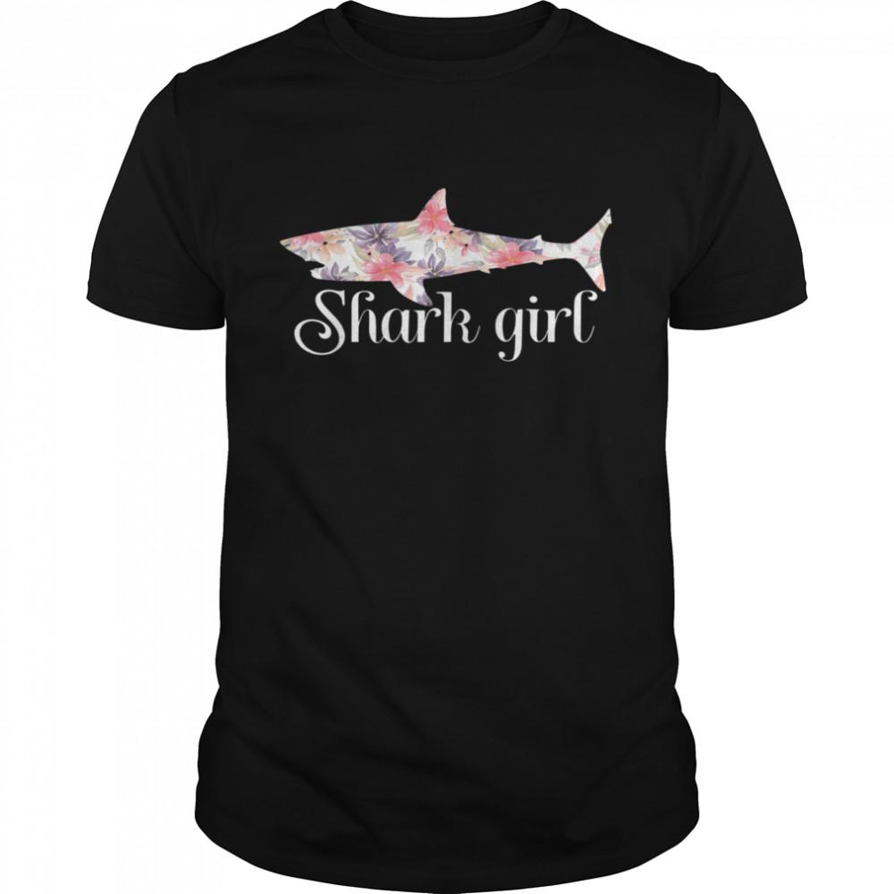 Shark Girl Sharks  Classic Men's T-shirt