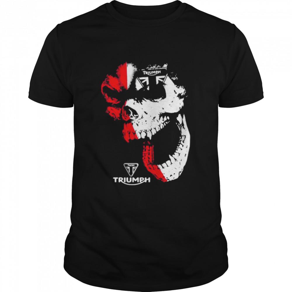 Skull With Logo Triumph  Classic Men's T-shirt